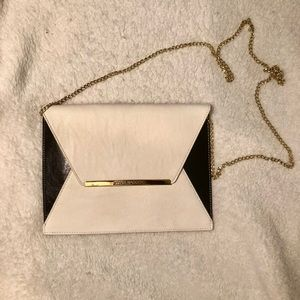 Steve Madden Black & White Envelope Clutch